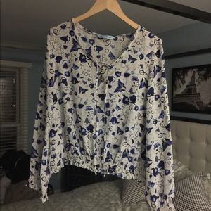 GUC Guess by Marciano Floral Butterfly Silk Large